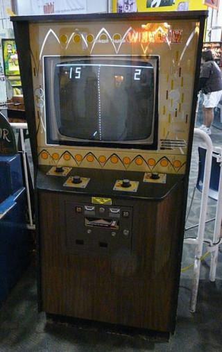 Arcade Spiele Pong auf einem Spielautomaten