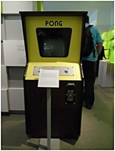 Pong-Automat im Computerspielemuseum Berlin
